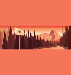 yosemite national park scene panoramic banner vector image