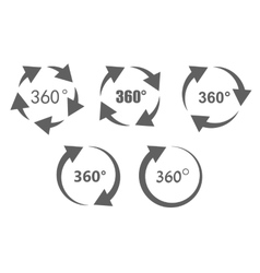 360 degree overview icons vector image