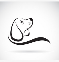 beagle dog design on white background pet vector image vector image