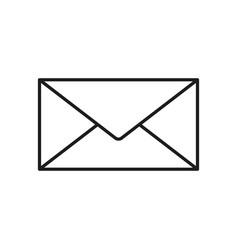 envelope white icon vector image