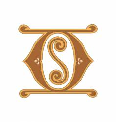 golden letter o vector image vector image