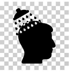 Head shower icon vector