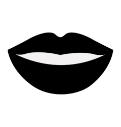Isolated female mouth cartoon design vector image