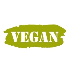 Vegan hand drawn isolated label vector image vector image