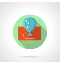 Blue flat style balloon icon vector image vector image