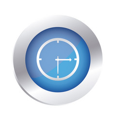 color circular emblem with wall clock icon vector image