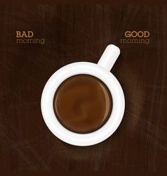 cup of coffee showing good morning vector image vector image