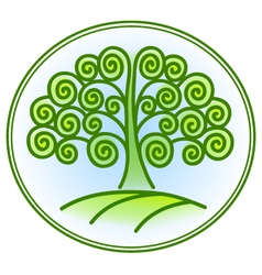 nature and environment icon with tree vector image vector image