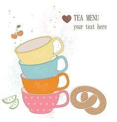 Tea menu vector image