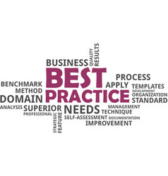 word cloud - best practice vector image