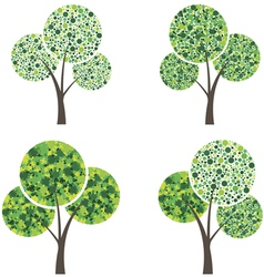 art season trees vector image vector image