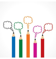 Colorful Message Bubbles with pencils vector image vector image