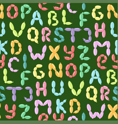 english balloon colorful alphabet holidays vector image
