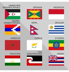 Flags of world 15 vector image