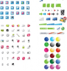 icons and graphics vector image vector image