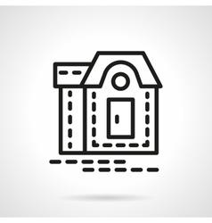 Mansion black line icon vector image