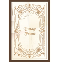 Vintage frame - with place for your text vector image