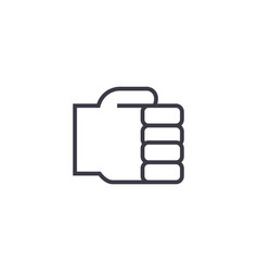 holding hand line icon sign vector image