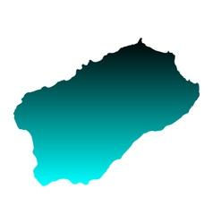 Map of Santo Antao vector image