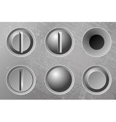 Six metal screws vector image