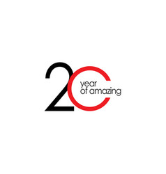 20 year amazing template design vector