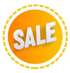 3d sale web icon element clipart vector image