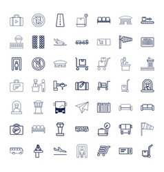 49 airport icons vector