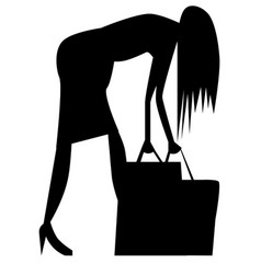 a shopping silhouette vector image