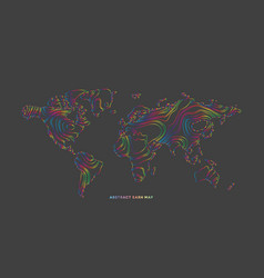abstract earth map consist of colorful stripes vector image