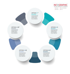 abstract element infographics 5 option design for vector image