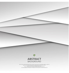 abstract of 3d white and grey paper cut vector image