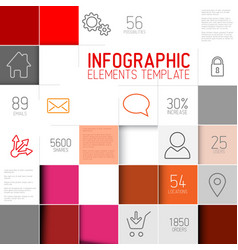 abstract red squares background infographic vector image