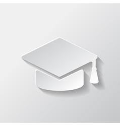 Academic cap icon vector image