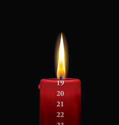 Advent candle red 19 vector image