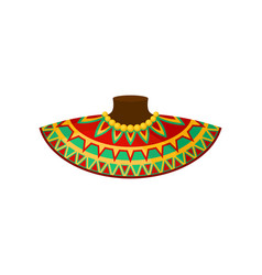 African neck decoration with traditional ornament vector