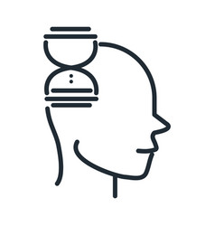alzheimers disease neurological brain confusion vector image