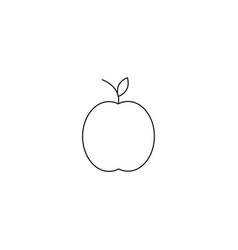 apple line icon outline sign linear style vector image