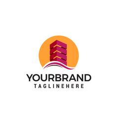 Architect construction building logo design vector
