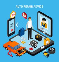 auto repair advice concept vector image