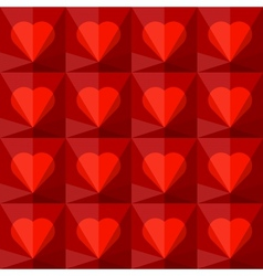 Background with crystal hearts vector