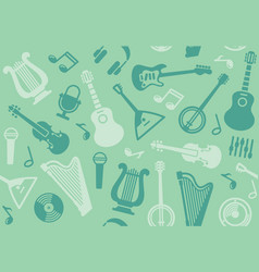 background with string musical instruments vector image