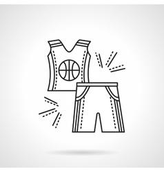Basketball uniform flat line icon vector image