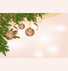 beautiful banner greeting card with christmas vector image