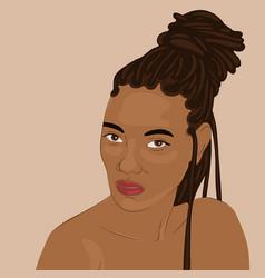 Beautiful black woman vector
