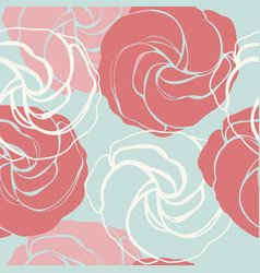 beautiful endless pattern with cute roses vector image