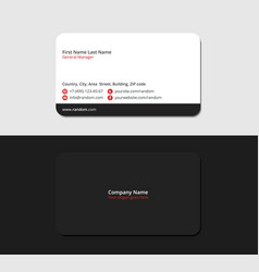 Black and white business card vector