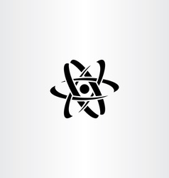black nucleus logo symbol icon vector image