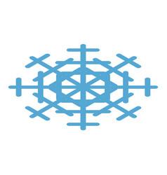 blue snowflake icon isometric style vector image