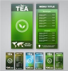 Blur menu tea vector