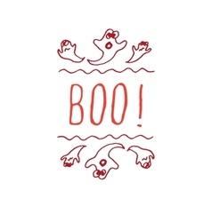 Boo - typographic element vector
